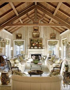 Traditional Living Room by Nancy Morton and F. Burrall Hoffman Jr. in Boca Grande, Florida