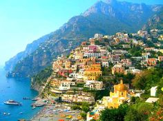 Positano is a village and comune on the Amalfi Coast, in Campania, Italy, mainly in an enclave in the hills leading down to the coast.