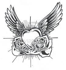 Image result for white rose and heart tattoo