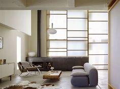 Modern Lasa Loft remodelling interior decorating ideas Interior  - Loft modern Frosted glass shoji like screens