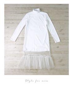 【楽天市場】(ホワイト)チュールワンピースの素敵な着こなし方♪3/3新作:Style for mom