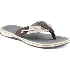 56317f847 Sperry Top-Sider Women s Seafish Grey Silver Stripes Thongs  amp .