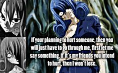Juvia Wont Lose by ~Xela-scarlet on deviantART Fairy Tail Quotes, Fairy Tail Funny, Fairy Tail Anime, Fairytail, Gruvia, Anime Qoutes, Manga Quotes, Fairy Tail Family, Fairy Tail Guild