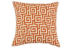 Oskar 17x17 Pillow, Orange on OneKingsLane.com