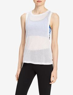 Image for performance drop arm mesh tank top from Calvin Klein