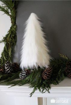 Easy DIY faux fur tree via My Sister's Suitcase #DIY #tree #fur
