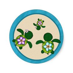Baby turtle Tattoos | GIRL Sea TURTLE Baby Shower (Honu)04B Seal Sticker