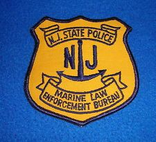 Vintage New Jersey State Police Marine Law Enforcement Bureau Patch