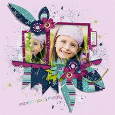 Page made by Conny using Spring Leaves Templates by Akizo Designs (Digital Scrapbooking layout)