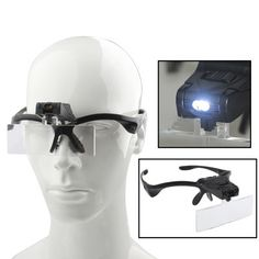 - 5-magnification head magnifier with 2-LED light - 5 kinds of multiple lens can be chosen, 1.0X, 1.5X, 2.0X, 2.5X and 3.5X - Use this tool, you can magnify things by 1X, 1.5X, 2.0X, 2.5X or 3.5X - Su
