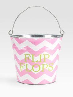 Bucket: Cute closet storage idea.
