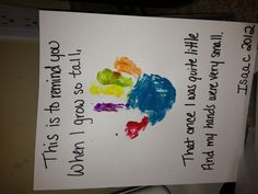 Handprint poem- wow this makes me wanna cry lol. My little guy is getting  so big