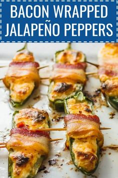 bacon wrapped jalapeño peppers baked jalapeno poppers, cream che… – How To Clean – JUST A FEW MINUTES Hot Dog Recipes, Healthy Chicken Recipes, Lunch Recipes, Easy Dinner Recipes, Lunch Foods, Easy Meals, Game Recipes, Cream Cheese Stuffed Jalapenos, Stuffed Jalapeno Peppers
