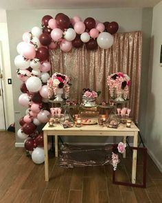 Ideas For Vintage Party Decorations Birthday Simple - New Deko Sites Balloon Garland, Balloon Decorations, Baby Shower Decorations, Balloons, 30th Birthday Parties, Gold Birthday, Birthday Ideas, 30th Bday Ideas, 21st Party
