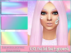 3 pastel inspired CAS backgrounds for your game, I really hope you all like this! :) Thanks to the CC and Pose creators for the amazing CC, these eyes will be uploaded soon.  Found in TSR Category...