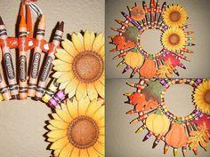 Fall Crayola Crayon Wreath