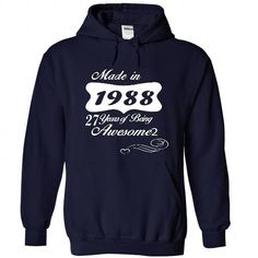 Years of Awesome 1988 T Shirts, Hoodies, Sweatshirts. GET ONE ==> https://www.sunfrog.com/Birth-Years/Years-of-Awesome-4490-NavyBlue-22731106-Hoodie.html?41382
