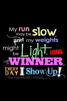I AM A WINNER: Fitness Motivational iPhone4 Wallpaper for your lock screen. #pfitblog