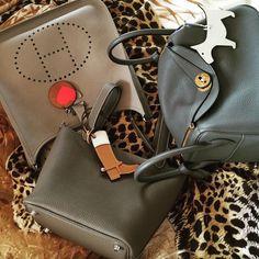 Hermes - Lindy, Picotin & leather bag charms.