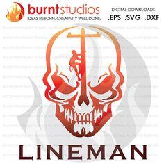 Digital File Lineman Linemen Power Climbing Hooks by BurntStudios