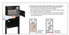 Briefkastenanlage mit Paketbriefkasten - die RENZ Depotbox bei Wagner - wagner-sicherheit.de
