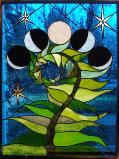 """desjarlaisdesigns: """" sosuperawesome: """" Stained Glass by Neile Cooper on Etsy Read more about Neile's woodland workplace, made from stained glass and salvaged windows, here So Super Awesome is also on..."""
