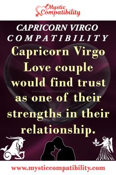 Capricorn Virgo Love couple would find trust as one of their strengths in their relationship. #Capricorn #Virgo #Relationship #Compatibility #Capricorn _Virgo #Relationship_Compatibility #CapricornVirgo #RelationshipCompatibility #Zodiac_Signs