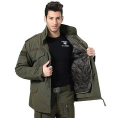b16795624 Men's M-65 Military Jacket Army Classic Winter Jacket With Detachable –  MILTACT.