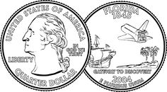 Gallery For > Quarter Coin Clipart Black And White Clipart black and white Black and white Clip art