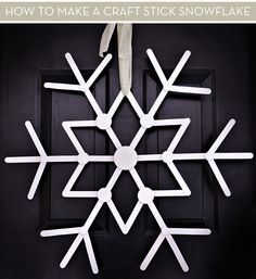 Craft Stick Snowflake