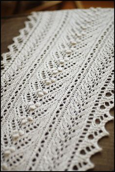 "※  "" Willoughby ""  by  Jared Flood - Wow... pretty scarf.  and one of my favorite knit designers"