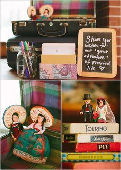 travel themed wedding guest book ideas