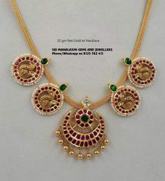 Get the best finishing in light wt necklaces. Presenting here is 32 gm Net Gold wt necklace. Visit us for best designs at most competitive prices. Real Gold Jewelry, Gold Jewelry Simple, Indian Jewelry, Ruby Jewelry, Diamond Jewelry, Amrapali Jewellery, Gold Jewellery, Jewelery, Latest Jewellery