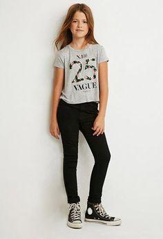 Clean Wash Skinny Jeans (Kids)   Forever 21 girls   #forever21kids