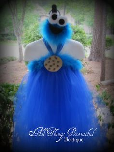 Cookie Monster Tutu Dress and Headband Birthday by AllThingsGrand, $44.99
