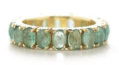 Facet Eternity Emerald Ring