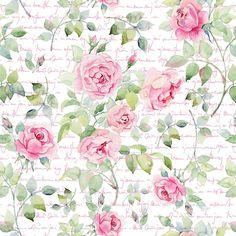 Papel de Parede Flores Rosa com Fundo Estilos Digital, Pintura, Caneta e Tinta - Papel de Parede Digital