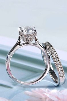Best Engagement Rings That Every Bride Will Love ❤ best engagement rings white gold wedding set solitaire round diamond ❤ More on the blog: https://ohsoperfectproposal.com/best-engagement-rings/ #wedding #engagementrings #bestengagementrings