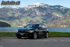 Grandiose Lake Lucerne scenery for an assuming yet surprisingly sporty diesel 1-series BMW.