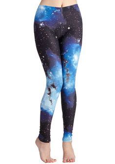 Fresh Take Leggings in Universe. Soar with unexpected style in these cosmos-printed leggings! #multi #modcloth