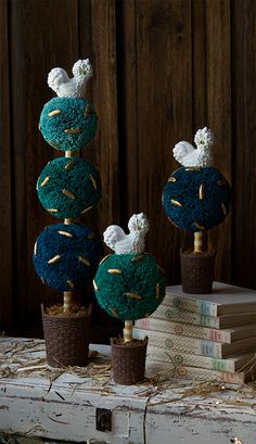 Glitterville Dolly Poulet Topiaries.