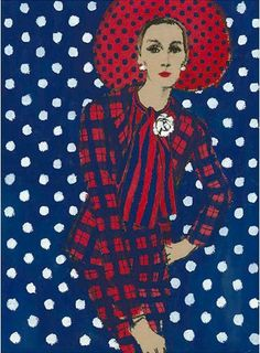 hoodoothatvoodoo:  Fashion illustration by Fred Greenhill, 1967 Chanel Suit