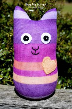 Handmade Sock Cat Stuffed Animal Sock Doll by elizabethruffing