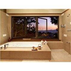 uma idéia para a janela da banheira