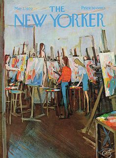 """New Yorker, May Arthur Getz Former New Yorker art editor Lee Lorenz wrote of Getz: """"He drew inspiration equally from the nightclubs of Manhattan and the apple orchards of New. The New Yorker, New Yorker Covers, Capas New Yorker, Cover Art, The Joy Of Painting, Magazine Art, Magazine Covers, Design Magazine, Art Editor"""