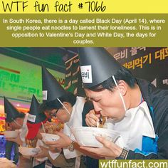 South Korea's Black Day - WTF fun facts