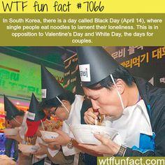 South Korea's Black Day - WTF fun facts