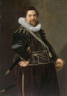 1626 Nicolaes Eliasz Pickenoy - Portrait of a Man. A good look at sword belt hardware in action.