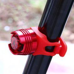 LED A Prueba de agua de Bicicletas Bicicletas Ciclismo Frente Casco Luces Rojas Flash de Cola Trasera de Seguridad Luz de Advertencia de Seguridad de Ciclo Precaución Luz