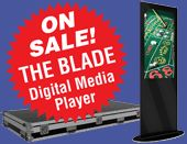 Blade Digital Media trade show banner stand, won Buyers Choice Award at Exhibitor 2014, on sale in April - save $295!